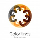 Symmetric abstract geometric shape, business symbol or logo design, loop poster