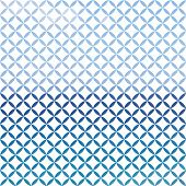 Blue and white defocused background with geometric ornament poster