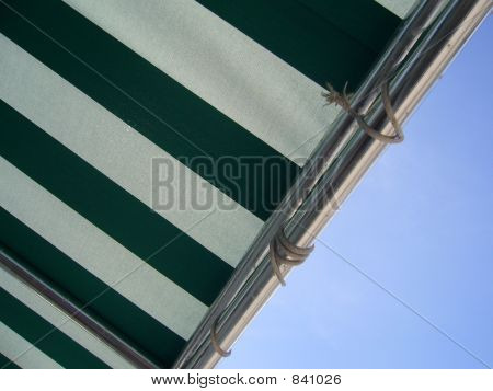 Green And White Awning