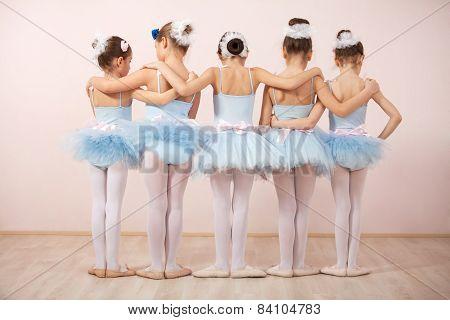 Group Of Five Little Ballerinas
