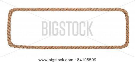 Rope Border Isolated On White Background