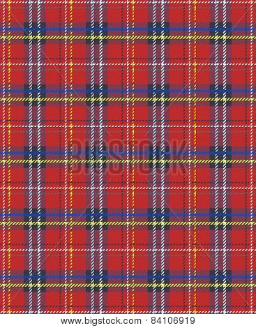 Seamless plaid fabric geometric texture