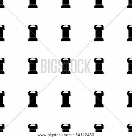Vector seamless pattern for self defence with black silhouette electroshock device or taser on white background. poster