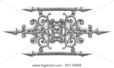 Pattern of the silver alloy isolated on white poster