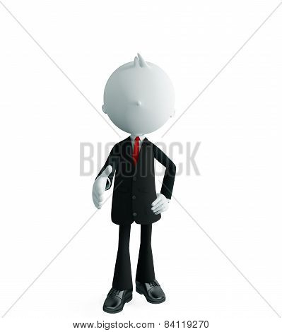 Businessman With Shakehand Pose