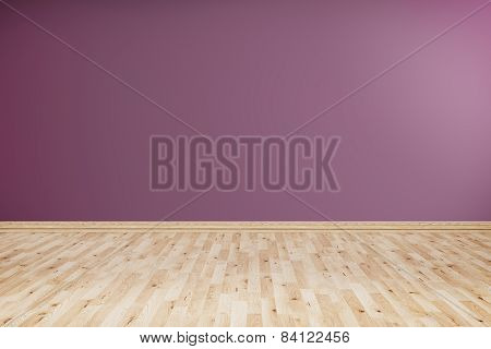 Empty Room With Violet Wall