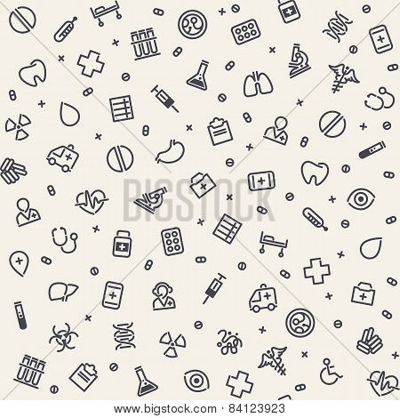 Light Seamless Medical Pattern