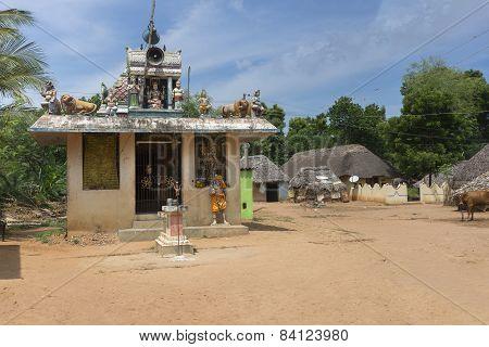 Village Shrine For Goddess Mariamman, Parvati.