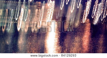 Abstract Trails, Photo In Motion. Light Trails, Long Exposure Photo.