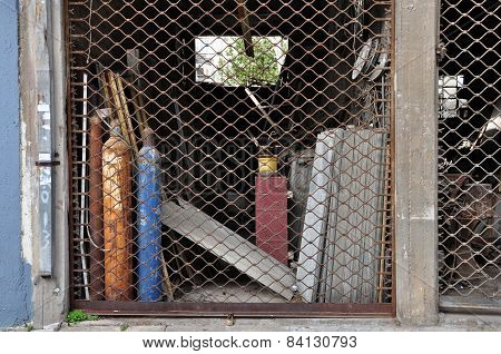 Abandoned Shop Asbestos Products