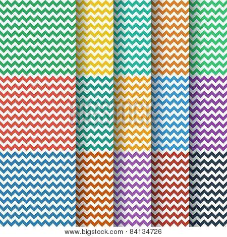 Chevron Seamless Pattern Collection