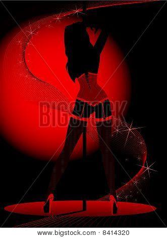 sexy women dances striptease