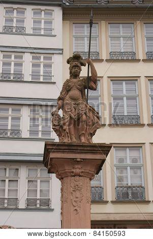 statue on column