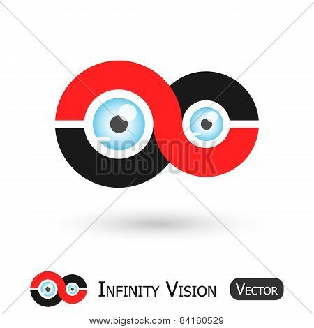 Infinity Vision ( Infinity sign and eyeball ) poster