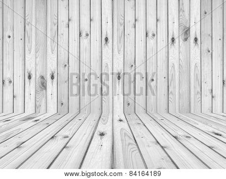 wood flooring and wall