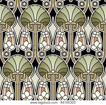 Art nouveau palace pattern