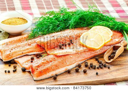 Fresh Salmon/trout In Marinade- Ready To Eat, Ready To Cook.