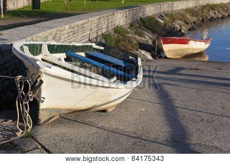 Boats In Plentzia, Bizkaia, Basque Country, Spain