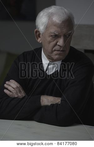 Retired Man Alone