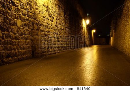 jerusalem street at night