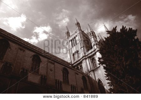 Peterborough Cathedral, Cambridgeshire, England. poster