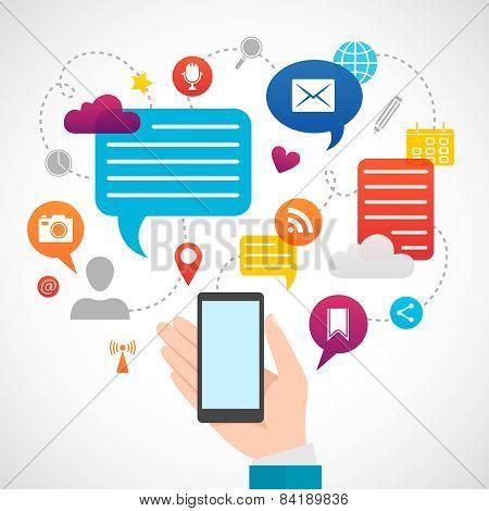 Mobile social network media concept