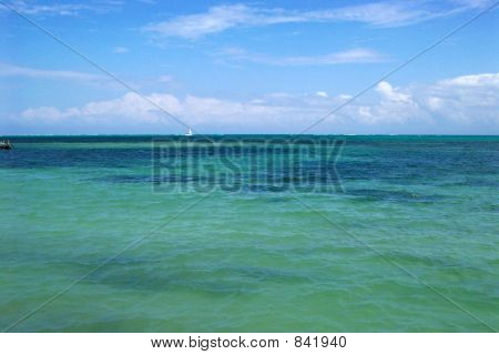 A view of the Carribean Sea from Ambergris Caye, Belize.