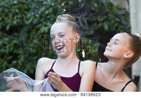 Two Ballerinas Having Fun