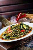 Sambal chili kangkong malaysia style with nice background poster