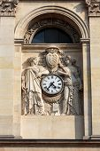 Fragment of facade of the Chapelle de la Sorbonne in Paris France poster