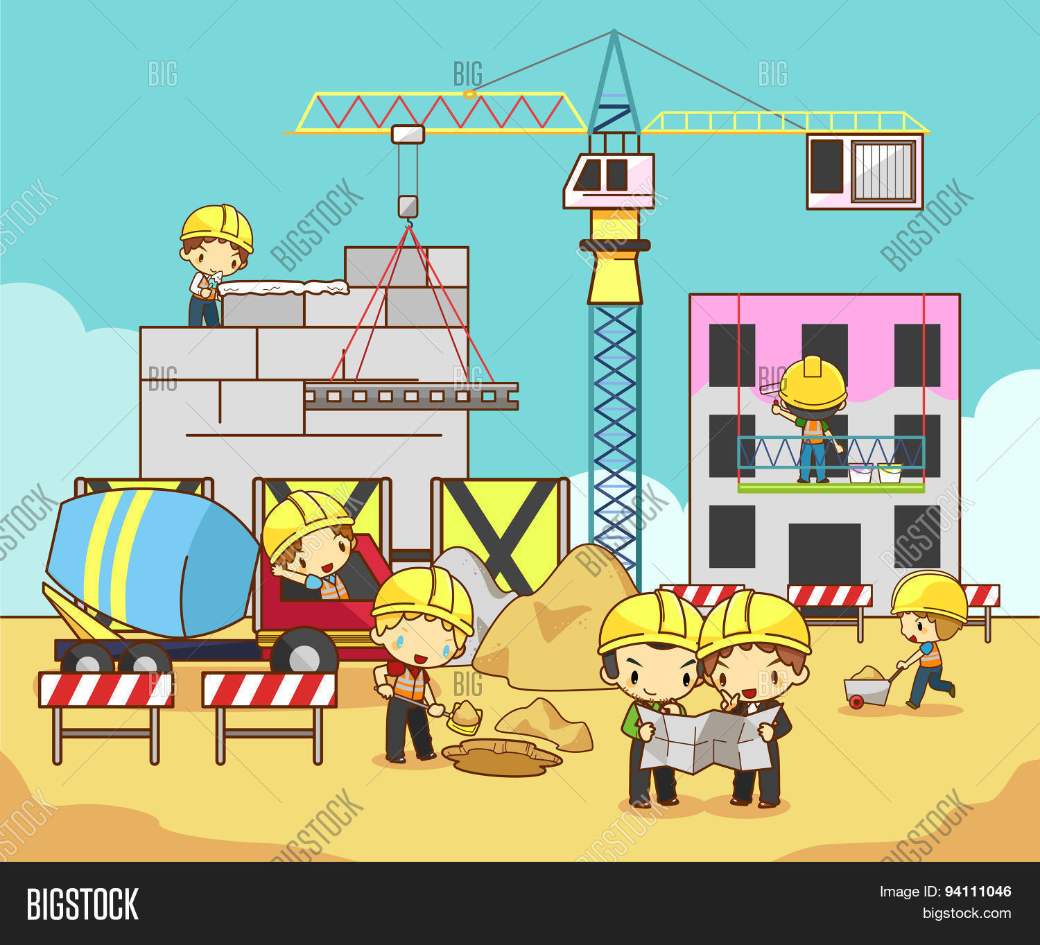 Cartoon children vector photo free trial bigstock for Build a house website
