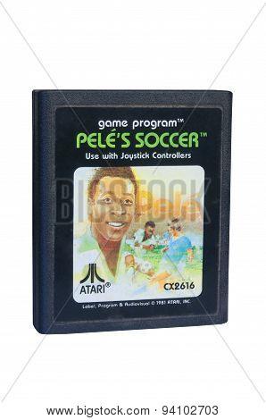 Pele's Soccer Atari 2600 Game Cartiridge