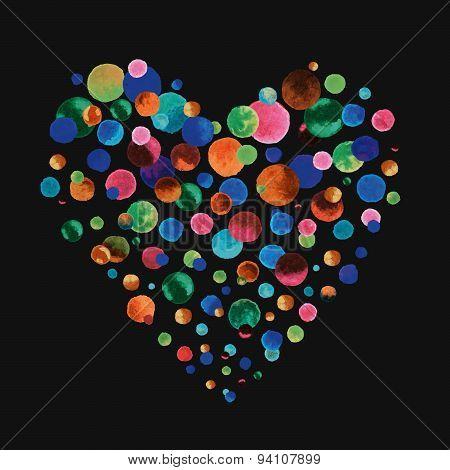 Watercolor Confetti Heart