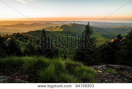 Sunrise Over The Blue Ridge Mountains
