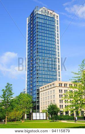 Skyscraper Frankfurt am Main Hessen in Germany poster