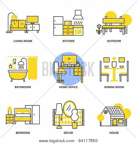 Furniture Vector Icons Set