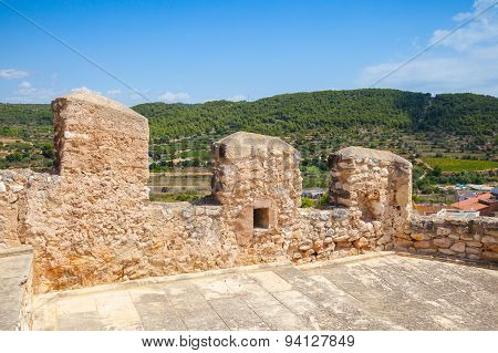 Medieval Stone Castle In Calafell, Spain