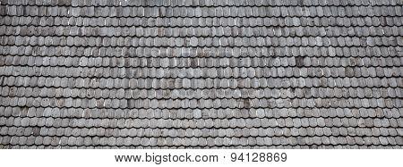 Old Wood Shingle Roof Background