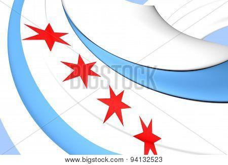 Flag Of The Chicago, Usa.