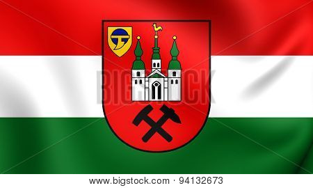 Flag Of The Kamp-lintfort, Germany.