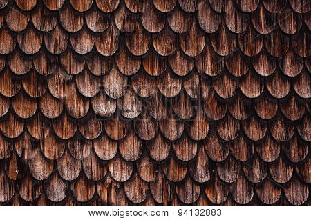 Old Rustic Wood Tiling Roof