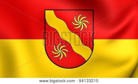 Flag Of The Warendorf Kreis, Germany.