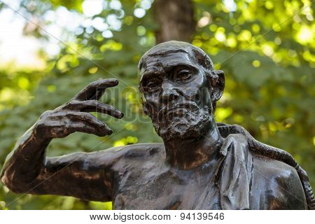 PARIS, FRANCE - SEPTEMBER 12, 2014: Statue in Rodin Museum in Paris