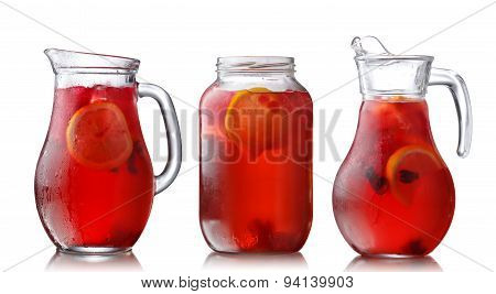 Jugs Of Hibiscus Tea