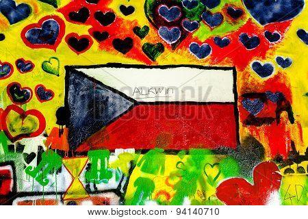John Lennon Wall In Prague, Famous Tourist Sightseeing