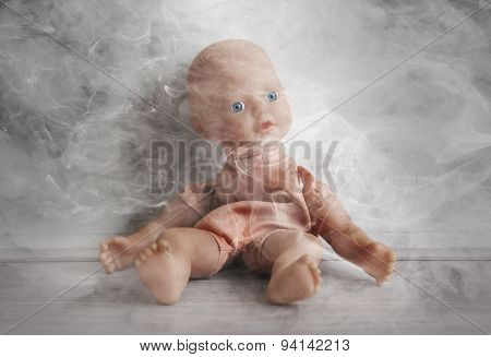 Concept Of Child Abuse - Smoking In Vicinity Of Children
