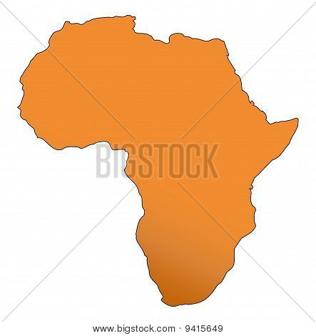 Illustration of the African continent