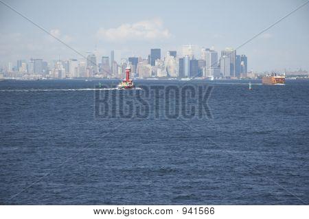 Skyline Of Manhattan, New York From Staten Island