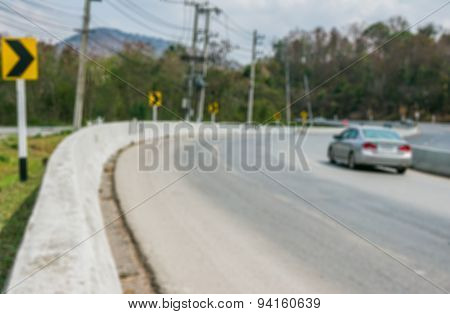 Motion Blur Of Cars On Street