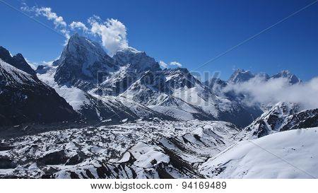 Ngozumba Glacier And Cholatse